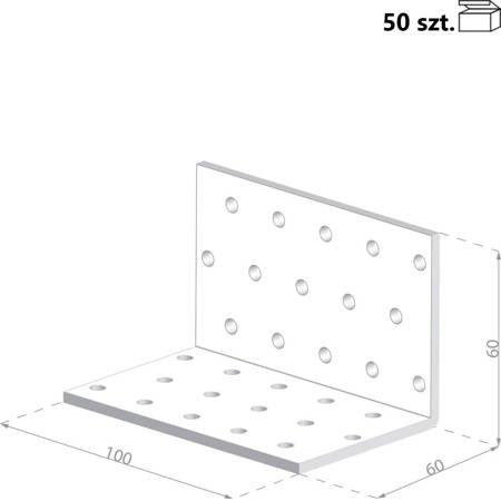 Kątownik KM6 60x60x100 x 2,0 mm (50 szt.)