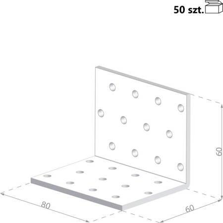 Kątownik KMP6 60x60x80 x 1,5 mm (50 szt.)