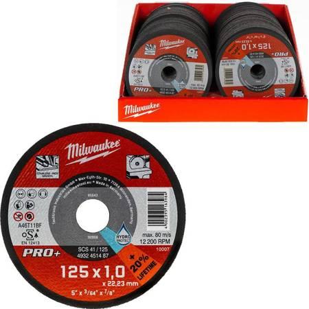 Tarcze do cięcia metalu 125x1 Milwaukee serii PRO+ (200 szt.)